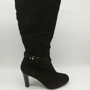 Talbots Side Zip Buckle Fashion Heel Boots 9 B